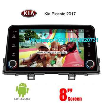 Kia Picanto 2017 car audio radio android wifi GPS camera
